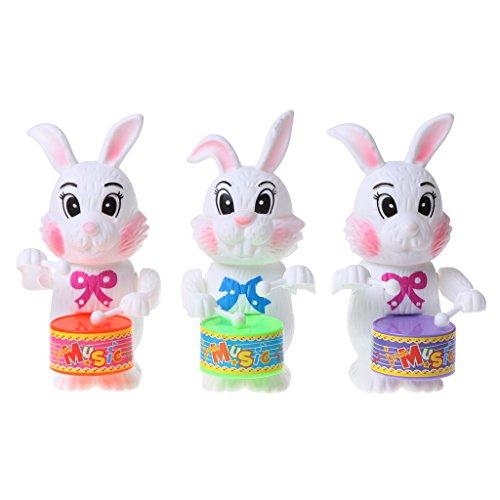 Sichuan Kaninchen Trommeln Spielzeug Aufziehuhr Uhrwerk Lernspielzeug Geschenk für Kind