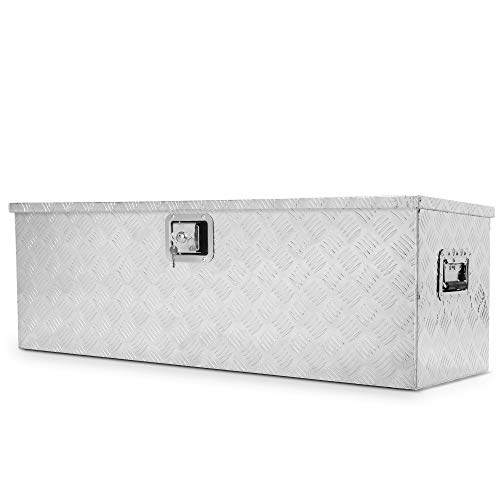 ARKSEN 49' Aluminum Toolboxes All Purpose Underbody Lock Storage Trailer Truck Trailer Chest Box Underbed Side Handle w/Key Set