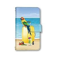 Galaxy S8 SC-02J SCV36 ケース スマホケース 手帳型 海 ビーチ トリ 鳥 a-bir-089 スマホカバー 携帯カバー ギャラクシー アンドロイド