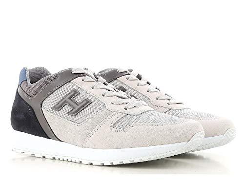 scarpe uomo modello hogan Hogan Sneakers Uomo in Pelle Grigio e Bianco Sporco - Codice Modello: HXM3210Y851I7G786S - Taglia: 39.5 EU