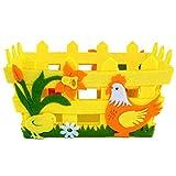 Amosfun Cestini di Pasqua Cestini Artigianali Cesto di Uova di Pasqua Cesto di Pasqua Decorazioni per la casa Ornamenti Regalo di Pasqua Decorazione del Partito Pasqua Colore Casuale 1 pz