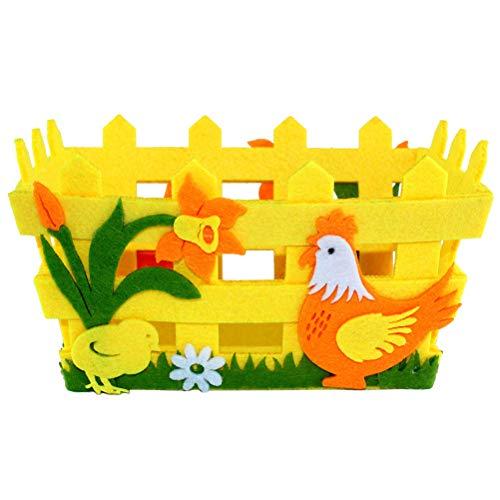 Amosfun - Cestas artesanales de Pascua - Cesta de Pascua para Huevo - Decoración para la casa de Pascua - Color Aleatorio