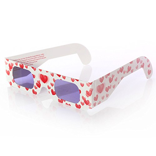 Lywedd® Herzbrille Liebesrausch - Jeder Lichtpunkt wird abends zum Herz!