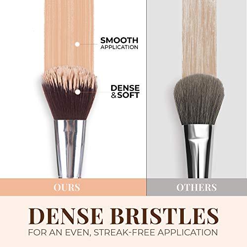 13 Bamboo Makeup Brushes Professional Set - Vegan & Cruelty Free - Foundation, Blending, Blush, Powder Kabuki Brushes.