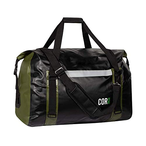 Cor Surf 100% Waterproof Duffle Bag And Weekend Bag For Women And Men, Roll-top Design With Sonically Welded Seams And Compression Straps To Keep Your Gear Dry (Huge 60 L, 24 x 2.1 x 14.2 inches)