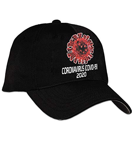 bull dog Coronavirus Covid-19 2020 Cap Hat Multiple Colors (Black)