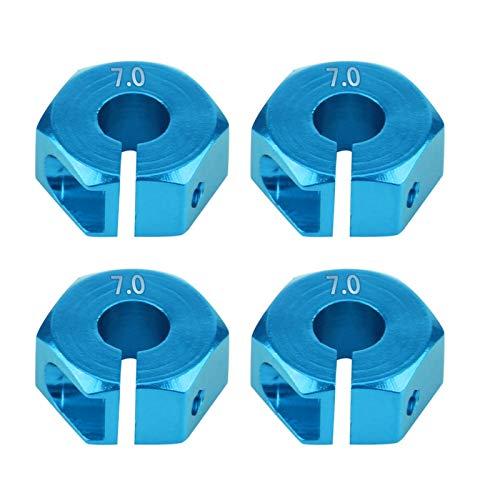 Cosiki Adaptador Hexagonal de Rueda, Llantas de Paleta RC de 12 mm,(7.0MM Blue)