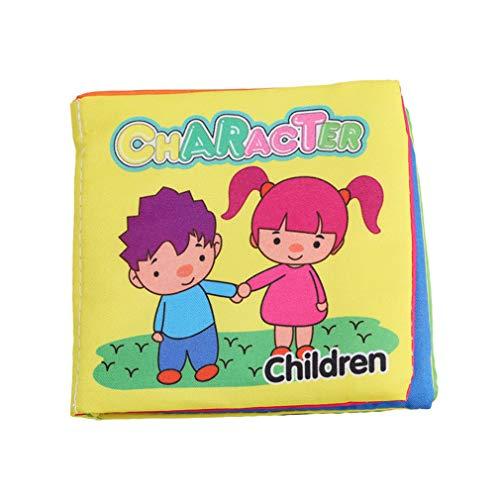 Hengxing Soft First Baby Buch Ungiftig Stoff Baby Tuch Bücher Früherziehung Spielzeug Aktivität Crinkle Tuch Buch, Charakter