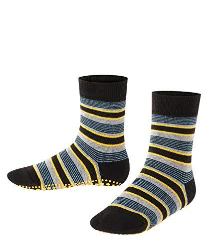 FALKE Kinder Stoppersocken Mixed Stripe - 83prozent Baumwolle, 1 Paar, Schwarz (Black 3000), Größe: 31-34