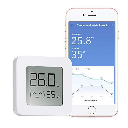 WARMTUYO Digital Termómetro Higrómetro Interior, Bluetooth Termómetro Higrómetro Monitor, Medidor Temperatura Humedad Inalámbrico con LCD Pantalla, Control de App con Exportación Datos