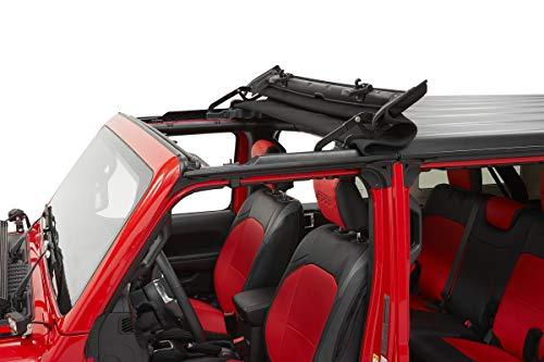 Bestop 5245435 Black Diamond Sunrider for Hardtop 2018-Current Jeep Wrangler JL & 2020 Jeep...