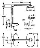 GROHE Duschsystem Rainshower SmartControl 360 DUO Brausen- und Duschsystem mit Thermostatbatterie für die Wandmontage | 26250000 - 19