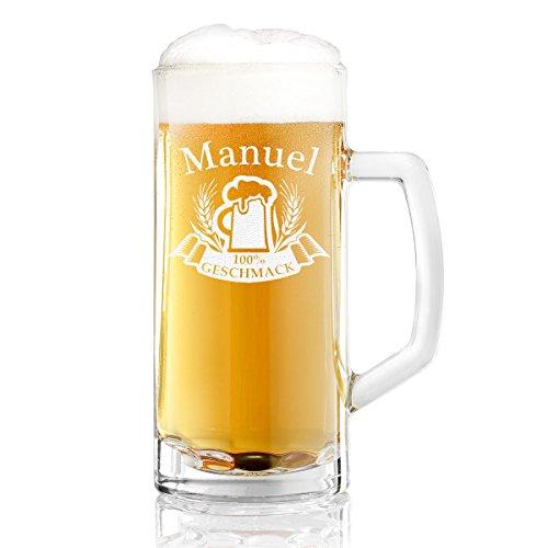 Jarra de cerveza Toni con grabado personalizado, 0,3 Liter Glas