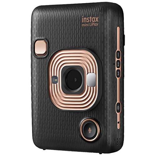 """Fujifilm Instax Mini LiPlay Elegant Black Fotocamera Ibrida Istantanea e Digitale (2560 x 1920), Registra 10"""" di Audio sulla Foto con la funzione """"Sound"""", Remote Shooting e Bluetooth, Foto 62 x 46 mm"""