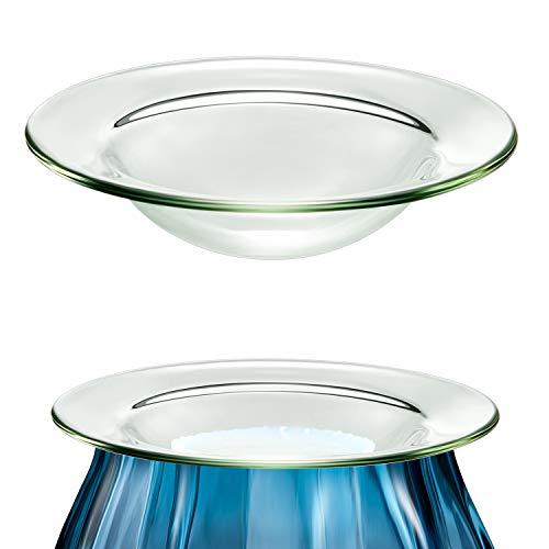 Replacement Oil Warmer Dish Round Glass Dish Wax Melt Warmer Bowl Plate Lid...