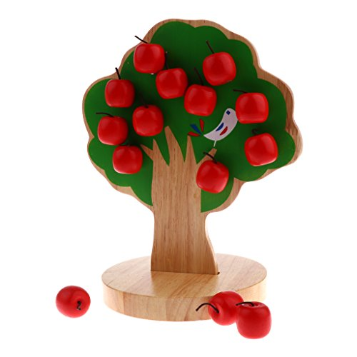 DIY Wooden Fruit Tree Toy, Math Puzzles for Baby Infant Kids,