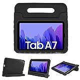 ProCase Kinder Hülle mit Kickstand für Galaxy Tab A7 10.4 Zoll 2020 (Model:SM-T500/ T505/ T507, Ultra Leicht Stoßfest Robust Kind Schutzhülle Umwandelbar Handgriff Handle Standfunktion –Schwarz