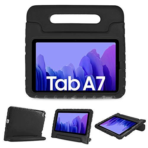 ProCase Funda Infantil para Samsung Galaxy Tab A7 10.4' 2020, Estuche Antigolpes con Asa Convertible, Carcasa Súper Protectora Ligera para Galaxy Tab A7 10.4 2020 T500 T505 T507 - Negro