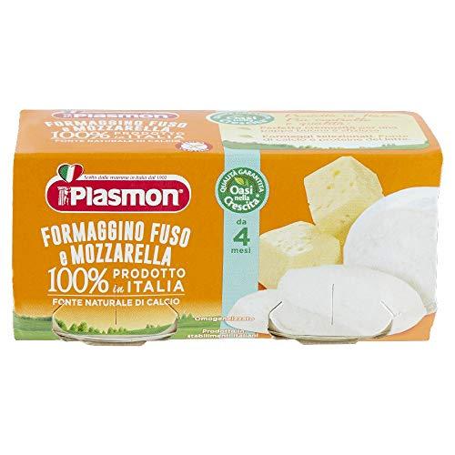 Plasmon Omogeneizzato, Formaggino Fuso e Mozzarella, 24 x 80 g
