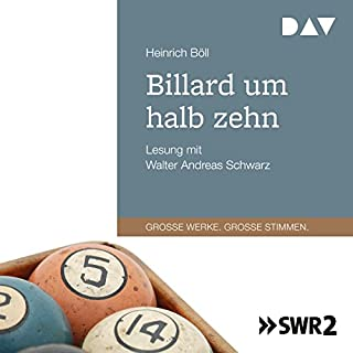 Billard um halb zehn                   Autor:                                                                                                                                 Heinrich Böll                               Sprecher:                                                                                                                                 Walter Schwarz                      Spieldauer: 5 Std. und 3 Min.     34 Bewertungen     Gesamt 4,2