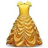 vap26 Disfraz de Princesa Bella para niñas de la Bella y la Bestia, Vestido de Fiesta de Halloween, 12#, 150 cm