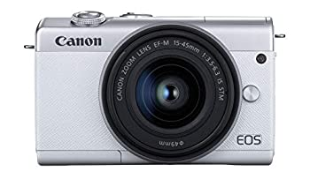 Canon EOS M200 Compact Mirrorless Digital Vlogging Camera with EF-M 15-45mm Lens Vertical 4K Video Support 3.0-inch Touch Panel LCD Built-in Wi-Fi and Bluetooth Technology White