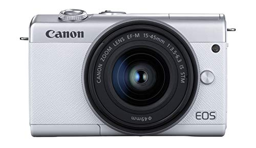 Canon EOS M200 Compact Mirrorless Digital Vlogging Camera with EF-M 15-45mm Lens, Vertical 4K Video Support, 3.0-inch Touch Panel LCD, Built-in Wi-Fi, and Bluetooth Technology, White