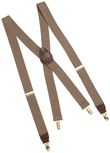 Dockers Men's Solid Suspender, Khaki, One Size