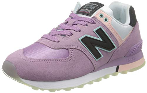 New Balance Damen 574v2 Sneaker, Violett (Purple Saw), 41 EU