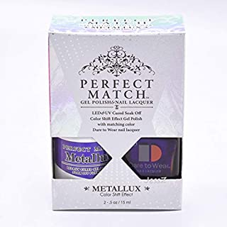Lechat Perfect Match Gel Polish + Nail Polish Metallux Collection MLMS08 Narwhal