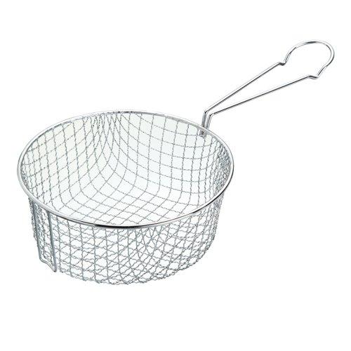 KitchenCraft Frittierkorb, Draht, Tief, Metall, passt in 18 cm Fritteuse/Pfanne, 16.5 cm