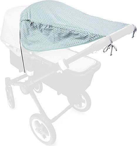 Priebes Sonnensegel Florence de lux | Sonnendach mit Seitenschutz | Universal Sonnenschutz | Sonnensegel für Kinderwagen Buggy Sportwagen | 100% Baumwolle | Made in EU