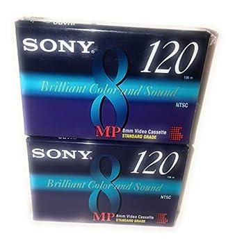Sony MP 8mm Video Cassette Standard Grade 120 min  2 Pack