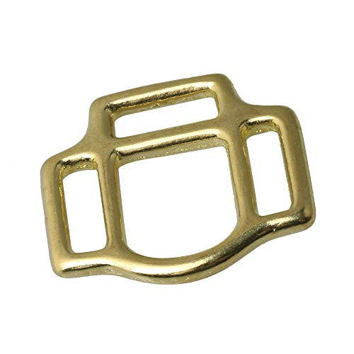 Yibuy - Brass buckle for bag (16 mm)