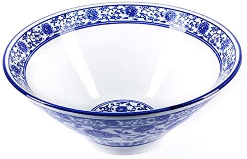 JCCOZ-URG Retro Estilo Chino Azul y Blanco Tazas de Arroz - Oriental China de Porcelana - Resistente a Altas temperaturas y fácil de Limpiar - Azul y Blanco de Porcelana bajo vidriado Cuencos UR