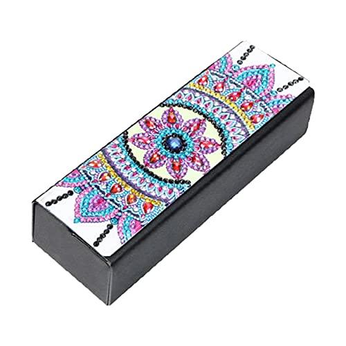 osyare DIY gafas caso pintura diamante imitación cuero portátil gafas caja para viajes 2