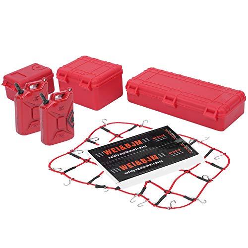 Red de Equipaje RC, Red de Equipaje de decoración RC Maleta Tanques de Combustible Disponibles para 1/8 1/10 Modelo Crawler RC Car