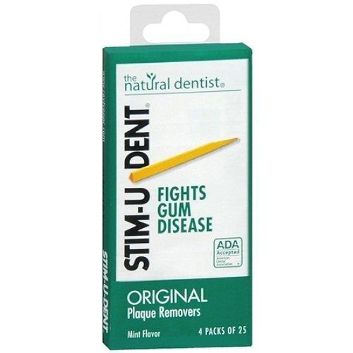 Stim-U-Dent Plaque Removers 12 Packs of 25 Picks/Pack (300 Picks) - Mint Flavor by Stim-U-Dent