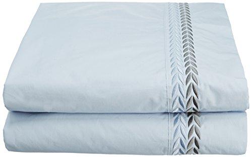 Anne de Solene Opéra Drap Plat Coton Bleu 180 x 290 cm