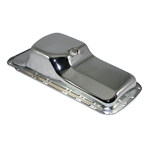 Assault Racing Products A9496 for Big Block Chrysler/Plymouth/Dodge Chrome Oil Pan Stock Style 5QT Center Sump BBM R/RB 383 400