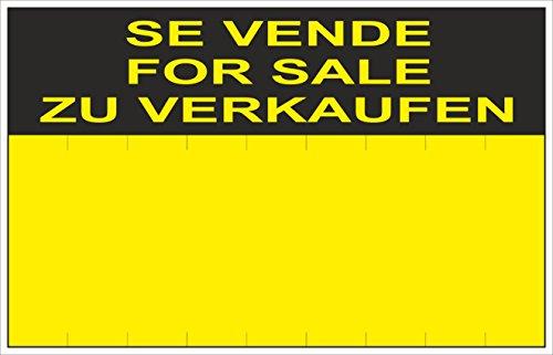 NM RD51405 - Cartel Se Vende For Sale Zu Verkaufen PVC Glasspack 0,4 mm 45x70 cm