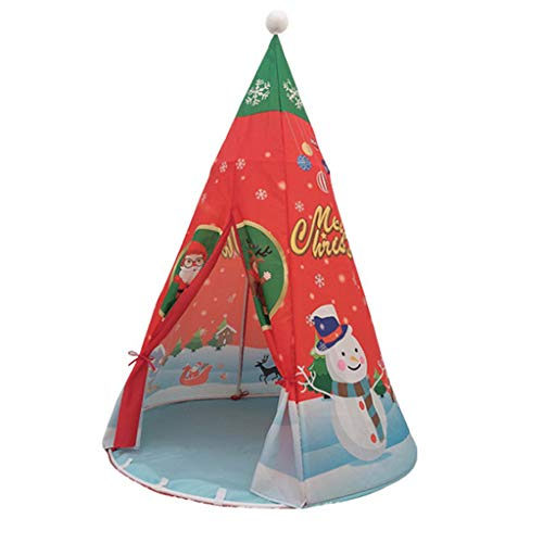 YJYdadaS Christmas Decoration Simulation Toy Children Tent Princess Play House Christmas Indoor Toy House with Storage Bag