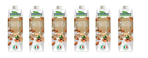 6x Granarolo Latte di Mandorla 100% vegetale pflanzliche Mandelmilch Laktosefrei 1Lt