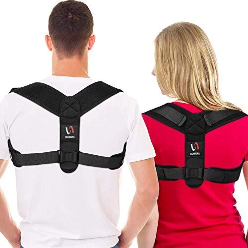[Neuestes Modell] Schiara Haltungskorrektur für Damen und Herren - Bequeme Oberrücken-Bandage, verstellbare Rückenstütze für Nacken, Rücken und Schulter