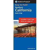 Rand McNally Easy To Fold: Southern California (Laminated Fold Map) (Rand McNally Easyfinder)