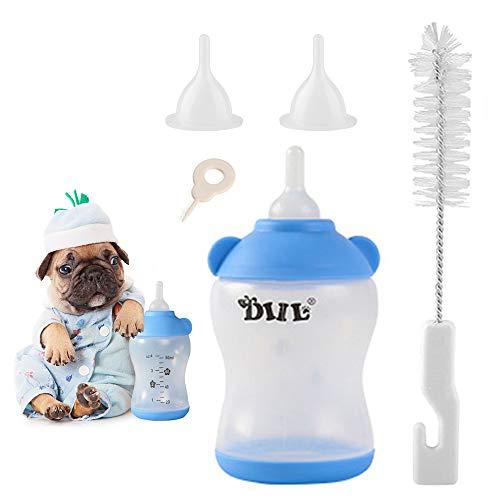 Aufzuchtflasche Haltbares Silikon Wasser Milch Flasche Neugeborene Pet Kleine Hunde Welpen Katze Milch Fläschchen Milch Feeder mit Nippel Pinsel Set