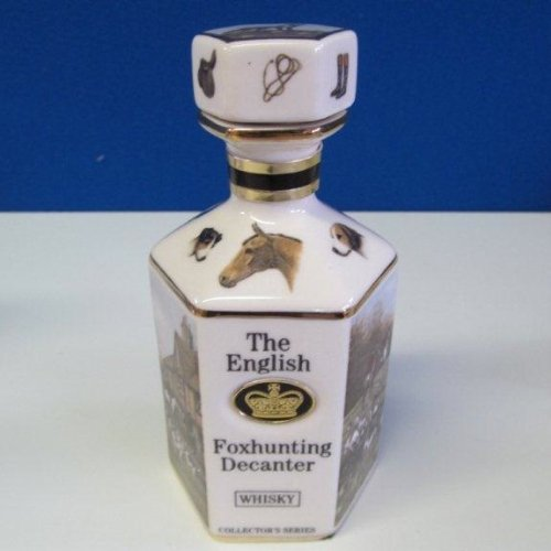 Pointers van Londen en Edinburgh De Engelse Foxhunting Porselein Whisky Decanter