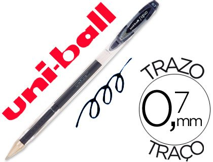 Boligrafo uni-ball roller um-120 signo 0,7 mm tinta gel color negro (12 Ud.)