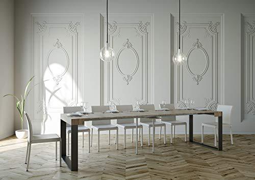 Itamoby Elettra 90cm Consola Extensible, Paneles de nobilitato, Roble Naturaleza y Antracita,...
