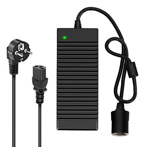 Digit.Tail Netzgleichrichter Netzadapter Spannungswandler Konverter 220V/230V/240V auf 12V/10A (120W) KFZ Zigarettenanzünder Wechselrichter AC/DC Adapter für PKW Kühlbox Navi